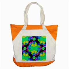 Multicolored Floral Print Geometric Modern Pattern Accent Tote Bag
