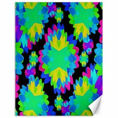 Multicolored Floral Print Geometric Modern Pattern Canvas 18  X 24  (unframed)