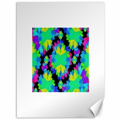 Multicolored Floral Print Geometric Modern Pattern Canvas 36  x 48  (Unframed)