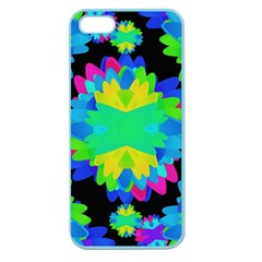 Multicolored Floral Print Geometric Modern Pattern Apple Seamless Iphone 5 Case (color)