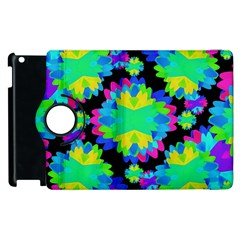 Multicolored Floral Print Geometric Modern Pattern Apple iPad 3/4 Flip 360 Case
