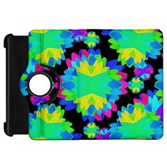 Multicolored Floral Print Geometric Modern Pattern Kindle Fire Hd Flip 360 Case