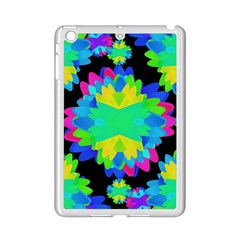 Multicolored Floral Print Geometric Modern Pattern Apple iPad Mini 2 Case (White)