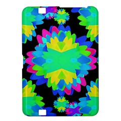 Multicolored Floral Print Geometric Modern Pattern Kindle Fire HD 8.9  Hardshell Case