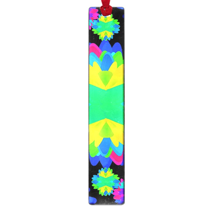 Multicolored Floral Print Geometric Modern Pattern Large Bookmark