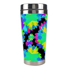 Multicolored Floral Print Geometric Modern Pattern Stainless Steel Travel Tumbler
