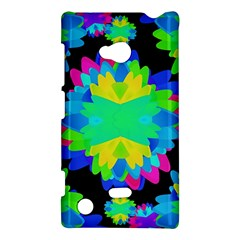 Multicolored Floral Print Geometric Modern Pattern Nokia Lumia 720 Hardshell Case