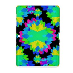 Multicolored Floral Print Geometric Modern Pattern Samsung Galaxy Tab 2 (10 1 ) P5100 Hardshell Case