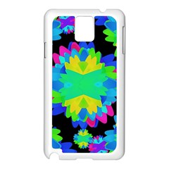 Multicolored Floral Print Geometric Modern Pattern Samsung Galaxy Note 3 N9005 Case (White)