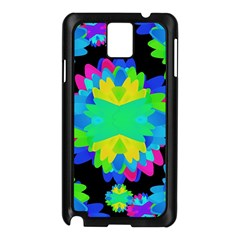 Multicolored Floral Print Geometric Modern Pattern Samsung Galaxy Note 3 N9005 Case (Black)