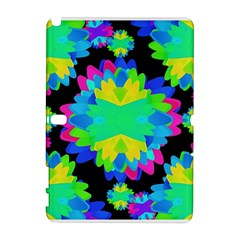 Multicolored Floral Print Geometric Modern Pattern Samsung Galaxy Note 10.1 (P600) Hardshell Case