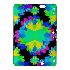 Multicolored Floral Print Geometric Modern Pattern Kindle Fire HDX 8.9  Hardshell Case