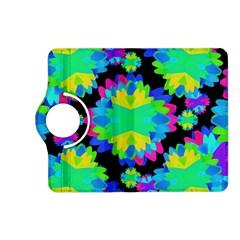 Multicolored Floral Print Geometric Modern Pattern Kindle Fire Hd (2013) Flip 360 Case