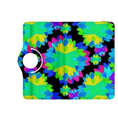 Multicolored Floral Print Geometric Modern Pattern Kindle Fire HDX 8.9  Flip 360 Case