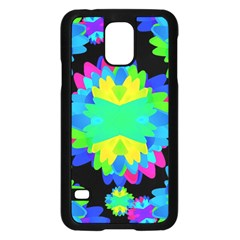 Multicolored Floral Print Geometric Modern Pattern Samsung Galaxy S5 Case (Black)
