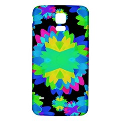 Multicolored Floral Print Geometric Modern Pattern Samsung Galaxy S5 Back Case (White)