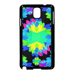 Multicolored Floral Print Geometric Modern Pattern Samsung Galaxy Note 3 Neo Hardshell Case (Black)