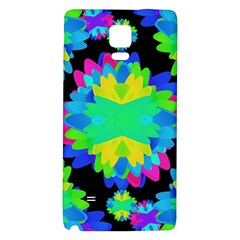 Multicolored Floral Print Geometric Modern Pattern Samsung Note 4 Hardshell Back Case