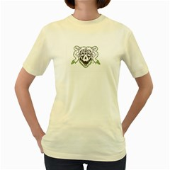 7 Gates Graffix Women s T-shirt (Yellow)