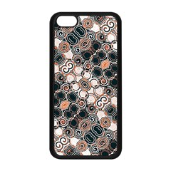 Modern Arabesque Pattern Print Apple Iphone 5c Seamless Case (black)