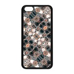 Modern Arabesque Pattern Print Apple iPhone 5C Seamless Case (Black) Front