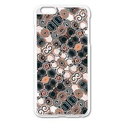 Modern Arabesque Pattern Print Apple iPhone 6 Plus Enamel White Case