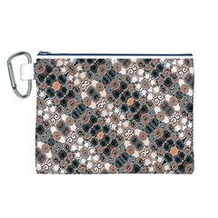 Modern Arabesque Pattern Print Canvas Cosmetic Bag (Large)