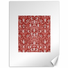 Flowers Pattern Collage In Coral An White Colors Canvas 36  X 48  (unframed)