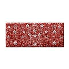 Flowers Pattern Collage In Coral An White Colors Hand Towel