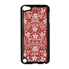 Flowers Pattern Collage In Coral An White Colors Apple Ipod Touch 5 Case (black)
