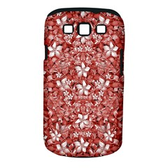 Flowers Pattern Collage In Coral An White Colors Samsung Galaxy S Iii Classic Hardshell Case (pc+silicone)