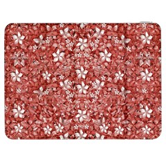 Flowers Pattern Collage in Coral an White Colors Samsung Galaxy Tab 7  P1000 Flip Case