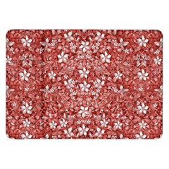 Flowers Pattern Collage in Coral an White Colors Samsung Galaxy Tab 8.9  P7300 Flip Case