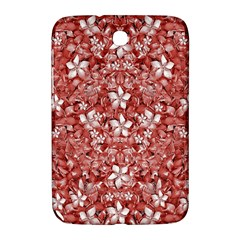 Flowers Pattern Collage In Coral An White Colors Samsung Galaxy Note 8 0 N5100 Hardshell Case
