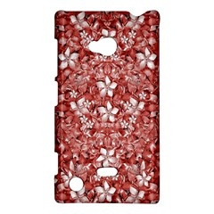 Flowers Pattern Collage In Coral An White Colors Nokia Lumia 720 Hardshell Case