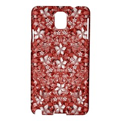 Flowers Pattern Collage in Coral an White Colors Samsung Galaxy Note 3 N9005 Hardshell Case