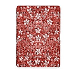Flowers Pattern Collage in Coral an White Colors Samsung Galaxy Tab 2 (10.1 ) P5100 Hardshell Case