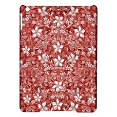 Flowers Pattern Collage in Coral an White Colors Apple iPad Air Hardshell Case