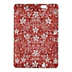 Flowers Pattern Collage in Coral an White Colors Kindle Fire HDX 8.9  Hardshell Case