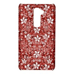 Flowers Pattern Collage in Coral an White Colors LG G2 Hardshell Case