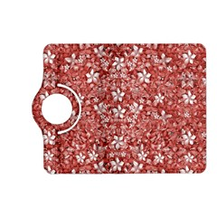 Flowers Pattern Collage in Coral an White Colors Kindle Fire HD (2013) Flip 360 Case