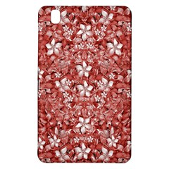 Flowers Pattern Collage in Coral an White Colors Samsung Galaxy Tab Pro 8.4 Hardshell Case