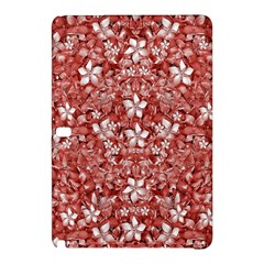 Flowers Pattern Collage in Coral an White Colors Samsung Galaxy Tab Pro 12.2 Hardshell Case