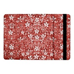 Flowers Pattern Collage in Coral an White Colors Samsung Galaxy Tab Pro 10.1  Flip Case