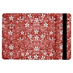 Flowers Pattern Collage in Coral an White Colors Apple iPad Air Flip Case