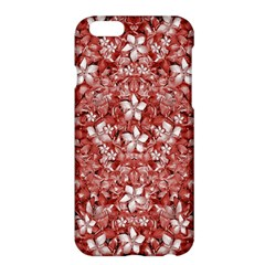 Flowers Pattern Collage in Coral an White Colors Apple iPhone 6 Plus Hardshell Case