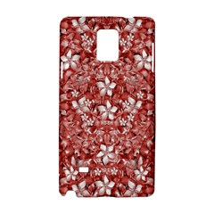 Flowers Pattern Collage In Coral An White Colors Samsung Galaxy Note 4 Hardshell Case