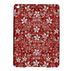 Flowers Pattern Collage in Coral an White Colors Apple iPad Air 2 Hardshell Case