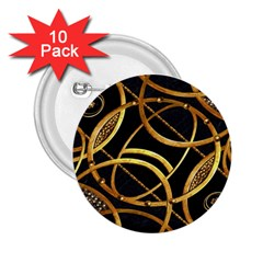 Futuristic Ornament Decorative Print 2 25  Button (10 Pack)