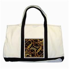 Futuristic Ornament Decorative Print Two Toned Tote Bag